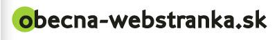 Obecná-webstránka.sk - úvodná stránka