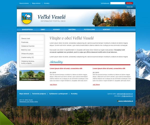 Doplnkové služby pre obec - webhosting 33b00f83a38